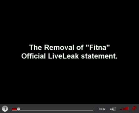 Live leak om Fitna