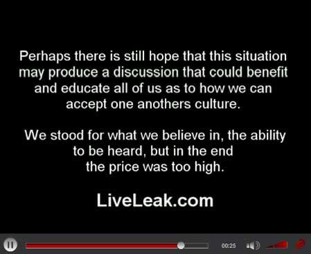 Liveleak om fjernelse af filmen Fitna