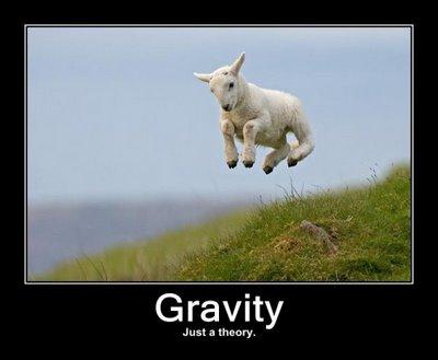 tyngdekraften er kun en teori
