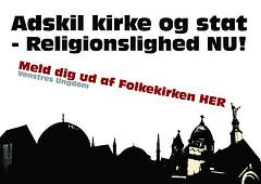 Adskil kirke og stat - Religionslighed nu